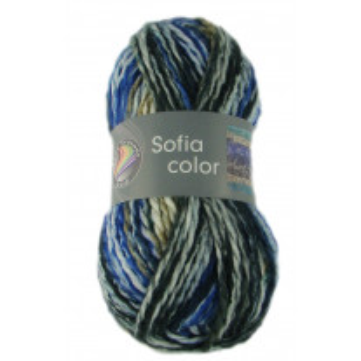 Pelote de laine Sofia Color Grundl Bleu Noir