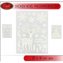 Sticker noel phosphorescent 29x41cm