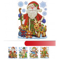 Sticker vitro statique de Noel 20x45cm