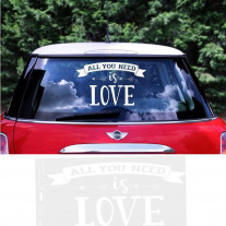 Grand Sticker mariage voiture All you need is love