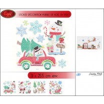 Stickers De noel multicolore avec relief