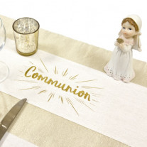 Sur chemin de table Communion Or