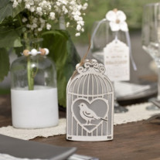 Suspension cage lumineuse mariage