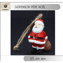 Suspension de noel bois Pere Noel