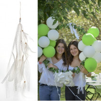 Suspension mariage plume Blanche
