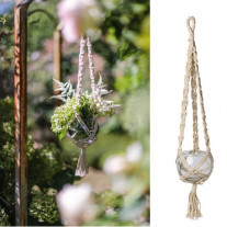 Suspension en verre macrame 55cm