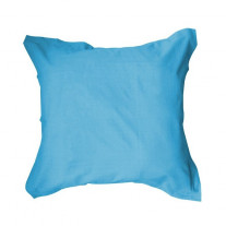 Taie d'oreiller Turquoise volant 75x75cm