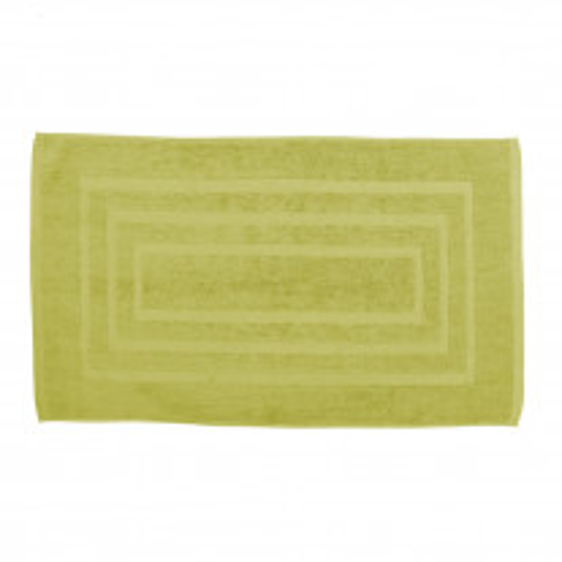 Tapis de bain pas cher Vert anis 50x85cm