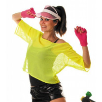 Tee shirt Fish net Jaune fluo