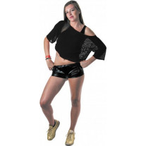 Tee shirt Fish net Noir