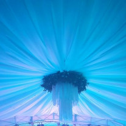 Tenture Mariage 100 mètres Turquoise