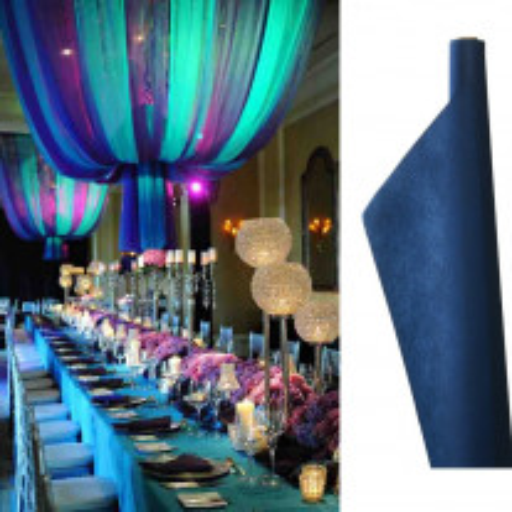 Tenture mariage Bleu marine 12 mètres