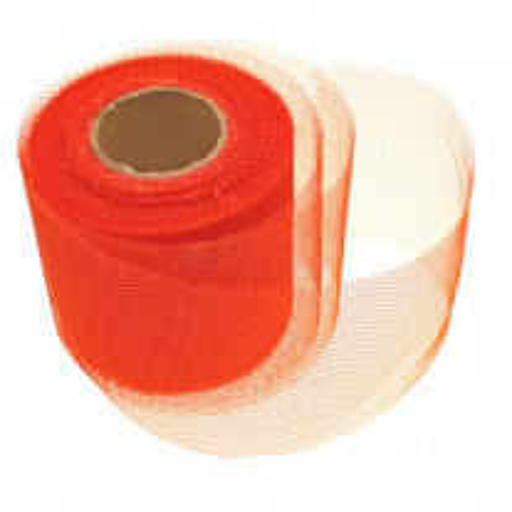 Rouleau de tulle Orange 8 cm x 20 mètres