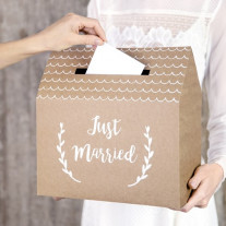 Urne mariage kraft Just Married