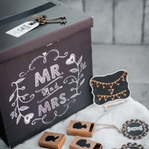 Urne mariage Noir Mr Mrs