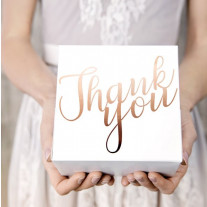 Urne mariage Thank You Rose gold