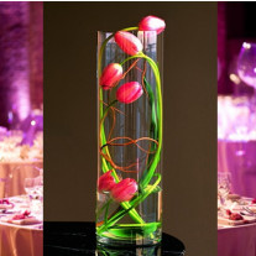 Vase cylindrique mariage 40cm
