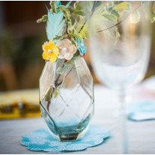 Vase en verre mariage original 16 x 8.5