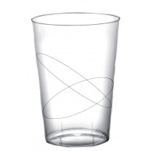 Verre a bière en plastique rigide Transparent