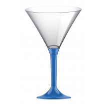 Verre à cocktail en plastique Bleu Roi Transparent