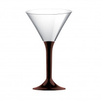 Verre à cocktail en plastique Chocolat
