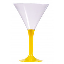 Verre à cocktail en plastique Jaune