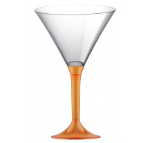 Verre à cocktail en plastique Orange transparent