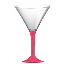 Verre cocktail plastique Corail