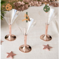 Verre cocktail plastique Rose Gold