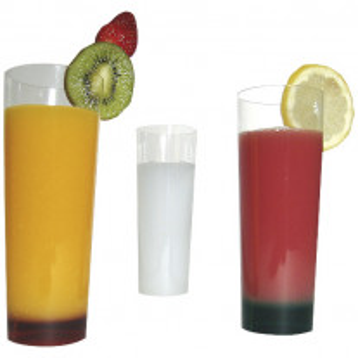 Verre Apéritif en plastique Long Drink Transparent x 10 pièces