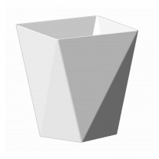 Verrine en plastique Diamant Blanc