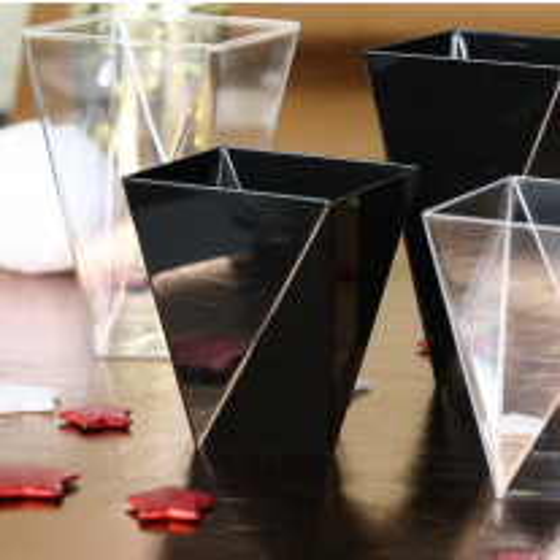 Verrine en plastique Diamant Noir