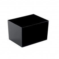 Verrine en plastique Rectangle Noir