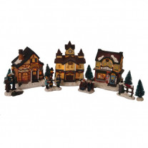 Village de noel miniature pas cher train de noel badaboum for Maison de noel pas cher