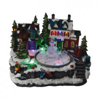 Village de noel musical Fontaine 11 LED